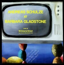 1985 Andreas Schulze art NYC gallery vintage print ad