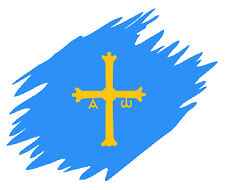 Vinilo pegatina bandera #360# ASTURIAS MANCHA coches, motos, cascos sticker