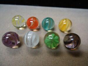 8 Gladding Vitro Agate Cage Style Cat Eye Marbles   5/8   Mint +  Lot # B