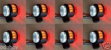 4 pairs 11 LED SIDE REAR OUTLINE 12V MARKER LIGHTS TRUCK CHASSIS TRAILER CARAVAN