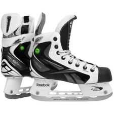 Reebok White K pump hockey player skates junior size 5 D black gray new ice jr