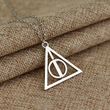 HARRY POTTER DEATHLY HALLOWS 3D SPINNING CHARM PENDANT NECKLACE *NEW* RARE SALE!