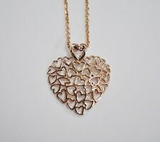 14KT Rose Gold Multi Heart Necklace