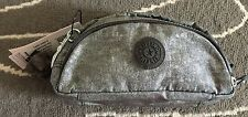 Kipling Caleen Pencil Pen Case Make up Pouch Bag Silver Glimmer BNWT