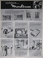 PUBLICITÉ PRESSE 1968 MOULINEX FRITEUSE ROBOT BATTEUR ASPIRATEUR 3 pages