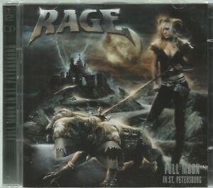 RAGE  -  FULL MOON IN ST. PETERSBURG.  /   CD/DVD  LIVE CONCERT SET.  IMPORT.