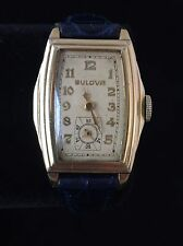 Beautiful 40's Gold-Plated Bulova Dress Watch It Runs But Does Not Keep Time.