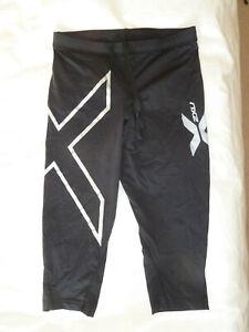 2XU Womens Compression Reflective 3/4 leggings - Size Small