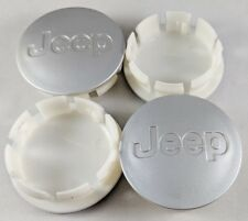 """SET of 4 Jeep Silver Center Caps 55mm Hub Caps 2 3/16"""" YEARS: 2005-2018"""