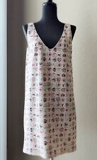 CHANEL Authentic Icon Stretch Heart V Neck Dress Pink Size 40 (US 8)  Rare