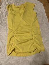 Athleta Sleeveless Shirt Yellow Exercise Size Small Tall