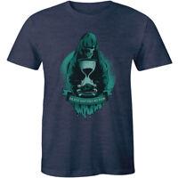 Death Refuses No Man - T-Shirt - Grim Reaper Death Metal Design Tee men's horror