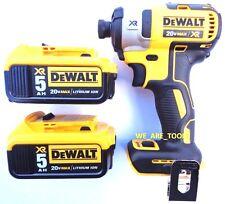 """NEW Dewalt DCF887 20V 3-Speed Brushless 1/4"""" Impact, (2) DCB205 5.0 AH Batteries"""
