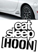 FREE EAT SLEEP HOON HOONIGAN VINYL DECAL STICKER JDM DRIFT CARS CUSTOM DECALS