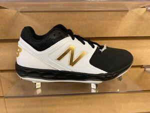 New Balance Softball Cleat (SMVELOK1)-White/ Black-Brand new in box