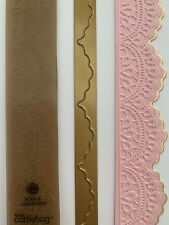 Anna Griffin Ornate Scalloped Border Embossing Folder & Matching Metal Die -RARE