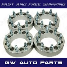 "4PC 8x6.5 to 8x180 Wheel Adapters 1.5"" Stud 14x1.5 Fits 8 LUG CHEVY & GMC"