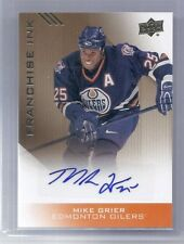 2013 UPPER DECK EDMONTON OILERS COLLECTION MIKE GRIER FRANCHISE INK AUTO GR
