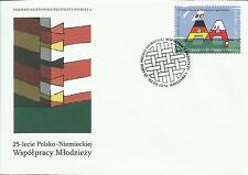 FDC - Polen Gemeinschaftsausgabe -50.Jahre Deutsch-Polnisches Jugendwerk -