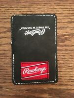 Rawlings Leather Wallet Pocket Baseball Glove, Stitched from glove leather Patch