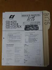 Sansui cd-x211 x311II 317ex Service Manual Original Repair Book Stereo