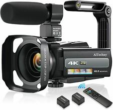 4K 60FPS Video Camera Camcorder Ultra HD 48MP Digital Camera WiFi YouTube Vloggi
