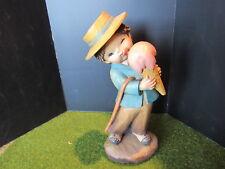 "Anri Ferrandiz SUMMERTIME Figurine Woodcarving 6"""