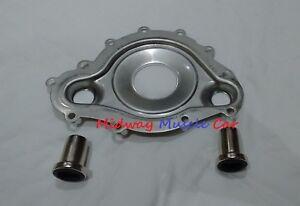 stainless steel water pump divider plate & sleeves 69-79 Pontiac 400 455 350
