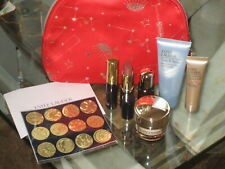Estee Lauder Red Cosmetic Bag & samples/travel with full sz lipstick  Worth £79!