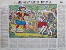 Imagerie populaire Epinal, Pellerin, Sainte Genevieve de Brabant, chasse, biche