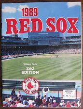 "1989 ""Red Sox Scorebook Program""; vs. Texas Rangers, Fenway Park Cover"