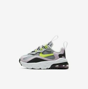 Nike Air Max 270 RT (TD) CD2654-010 Grey Volt White Baby Girl's Toddler Shoes