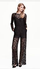 Black Lace Jumpsuit 8 H&M New BNWT Sold Out