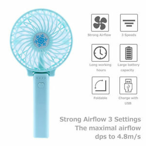 Portable Rechargeable Fan Mini Handy Fan Pocket Size Air Cooler with USB