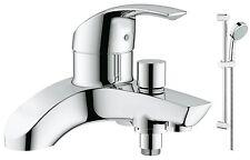 GROHE Eurosmart Lever Bath Shower Mixer Tap Slider Rail Kit 25105000 + 27578001