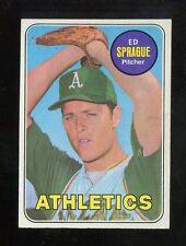 Baseball Card 1969 Topps # 638 Ed Sprague Oakland A's EXMT