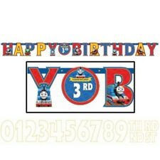THOMAS AND FRIENDS Party Jumbo Banner + Add An Age Letter Birthday Decoraion