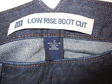 Gap Low Rise Boot Cut Jeans Side Zipper  Dark Wash  Size 2 NWOT  Lot F7
