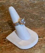 """REAL COLLECTIBLES BY ADRIENNE"" 18K/ SILVER 925 4 CT *DIAMONITE RING SZ 7"