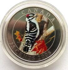 Canada 2008 Downy Woodpecker 25 Cents Coin,BU