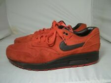 MEN'S SIZE 10 NIKE AIR MAX RED SUEDE ATHLETIC SHOES