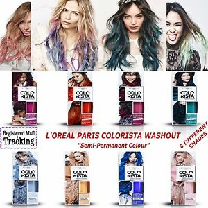 LOREAL PARIS COLORISTA WASHOUT Semi-Permanent Hair Colour, Choise 8 Colors