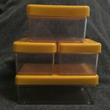 Vintage 60s/70s plastic storage box set