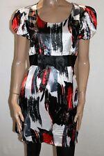 Sweetacacia Brand Red Multi Short Sleeve Bow Band Dress Size 8 BNWT #SK58