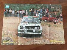 POSTER MANIFESTO 1978 FIAT131 Abarth campione rally ALEN-KIVIMAKI ALITALIA AUTO
