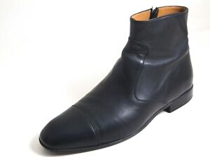Bally Ankle Boots Black Leather Men Size US 8 EU 41