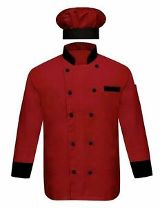 Chef coat full Sleeves Jacket/Chef Coat With Cap coat hotel dress