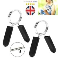 1 Pair ( 2pcs ) Gym Barbell Weight Spring Collar Lock Clips Bar Dumbbell Gym UK
