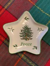 "Spode 5"" Christmas Tree Peace Star dish New Without Box Porcelain Candy trinket"