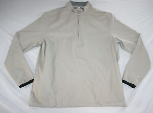 Ashworth Windbreaker Jacket 1/2 Zip Women L Beige NEW